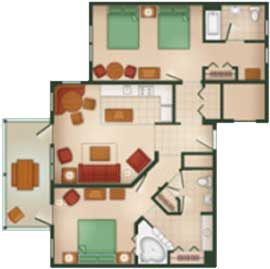 A Master Suite With King Size Bed Separate Bedroom 2 Queen Beds And Private Bathroom Living Room Sleeper Sofa